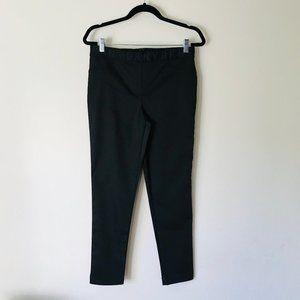 DKNY Skinny Straight Leg Pull-On Pants Black SZ M